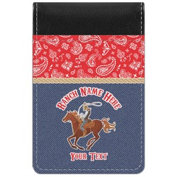 Western Ranch Genuine Leather Small Memo Pad (Personalized)