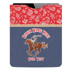Western Ranch Genuine Leather iPad Sleeve (Personalized)