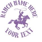 Western Ranch Glitter Sticker Decal - Custom Sized (Personalized)