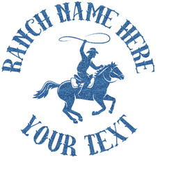 Western Ranch Glitter Sticker Decal - Custom Sized (Personalized)