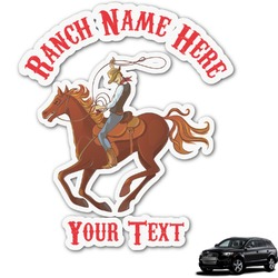 Western Ranch Graphic Car Decal (Personalized)