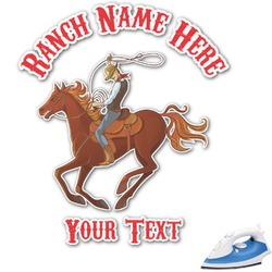 Western Ranch Graphic Iron On Transfer (Personalized)