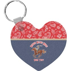 Western Ranch Heart Keychain (Personalized)