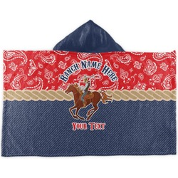 Western Ranch Kids Hooded Towel (Personalized)