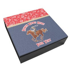 Western Ranch Leatherette Keepsake Box - 8x8 (Personalized)
