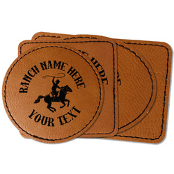Western Ranch Faux Leather Iron On Patch (Personalized)