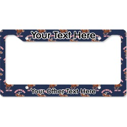 Western Ranch License Plate Frame (Personalized)