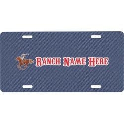 Western Ranch Front License Plate (Personalized)
