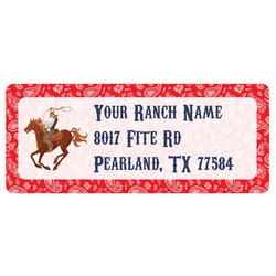 Western Ranch Return Address Labels (Personalized)