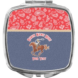 Western Ranch Compact Makeup Mirror (Personalized)