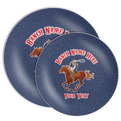 Western Ranch Melamine Plate (Personalized)