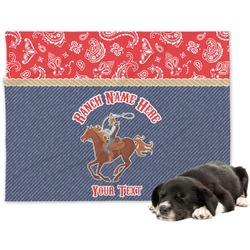 Western Ranch Minky Dog Blanket (Personalized)