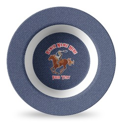 Western Ranch Plastic Bowl - Microwave Safe - Composite Polymer (Personalized)