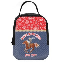 Western Ranch Neoprene Lunch Tote (Personalized)