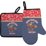 Western Ranch Oven Mitt & Pot Holder (Personalized)