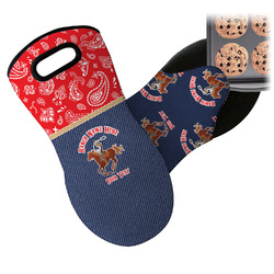 Western Ranch Neoprene Oven Mitt (Personalized)