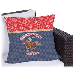 Western Ranch Outdoor Pillow (Personalized)