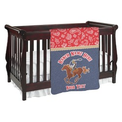 Western Ranch Baby Blanket (Personalized)