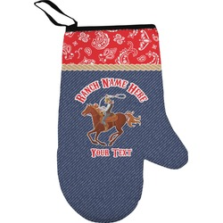 Western Ranch Right Oven Mitt (Personalized)