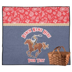 Western Ranch Outdoor Picnic Blanket (Personalized)
