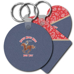 Western Ranch Plastic Keychains (Personalized)