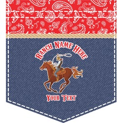 Western Ranch Iron On Faux Pocket (Personalized)