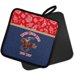 Western Ranch Pot Holder w/ Name or Text