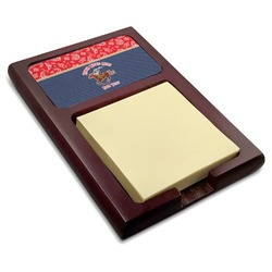 Western Ranch Red Mahogany Sticky Note Holder (Personalized)