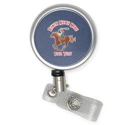 Western Ranch Retractable Badge Reel (Personalized)