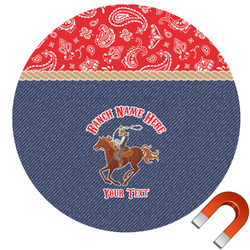 Western Ranch Car Magnet (Personalized)