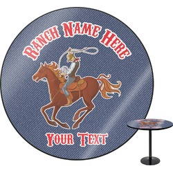 Western Ranch Round Table (Personalized)