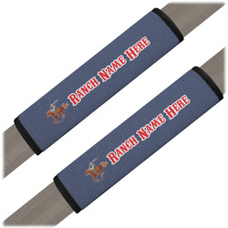 Western Ranch Seat Belt Covers (Set of 2) (Personalized)