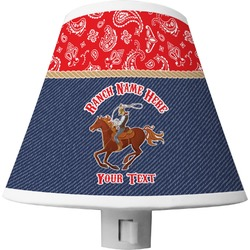 Western Ranch Shade Night Light (Personalized)