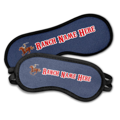 Western Ranch Sleeping Eye Masks (Personalized)