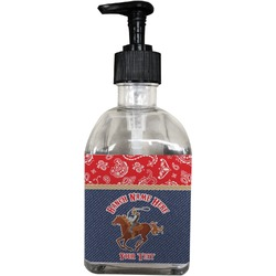 Western Ranch Soap/Lotion Dispenser (Glass) (Personalized)