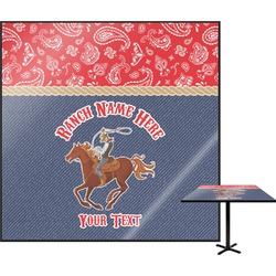 Western Ranch Square Table Top (Personalized)