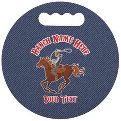 Western Ranch Stadium Cushion (Round) (Personalized)