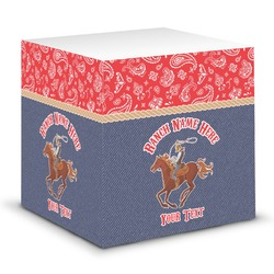 Western Ranch Sticky Note Cube (Personalized)