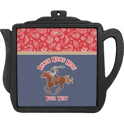 Western Ranch Teapot Trivet (Personalized)