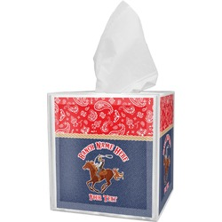 Western Ranch Tissue Box Cover (Personalized)