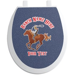 Western Ranch Toilet Seat Decal (Personalized)