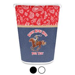 Western Ranch Waste Basket (Personalized)