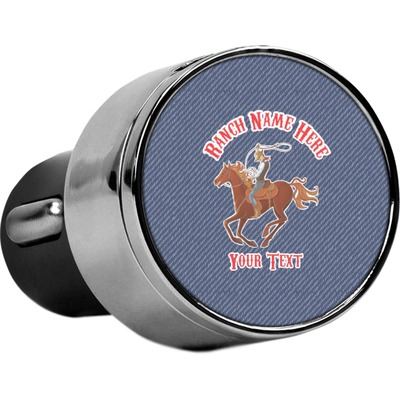 Western Ranch USB Car Charger (Personalized)