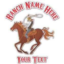 Western Ranch Graphic Decal - Custom Sized (Personalized)