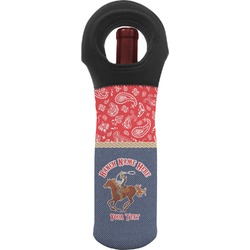 Western Ranch Wine Tote Bag (Personalized)