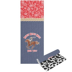 Western Ranch Yoga Mat - Printable Front and Back (Personalized)
