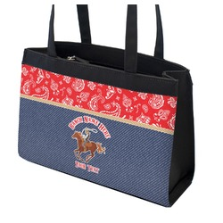 Western Ranch Zippered Everyday Tote w/ Name or Text