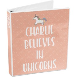 Unicorns 3-Ring Binder (Personalized)