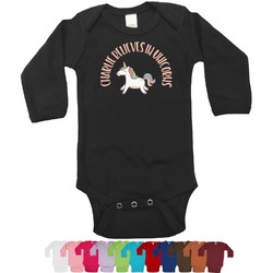 Unicorns Bodysuit - Black (Personalized)