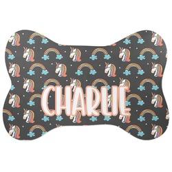 Unicorns Bone Shaped Dog Food Mat (Personalized)